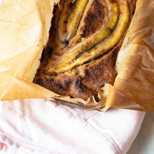 Bananenbrood AIP, Paleo, Glutenvrij, Lactosevrij en zonder ei.