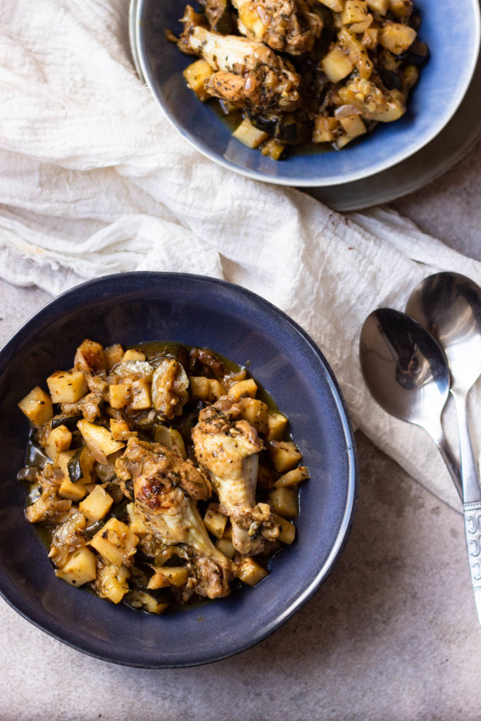 Makkelijke stoof met kip | AIP proof, glutenvrij, lactosevrij en zonder nachtschades.